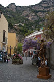 Road along the town of Positano on the Amalfi coast Royalty Free Stock Photos