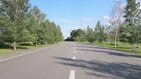 Road along trees Royalty Free Stock Photo