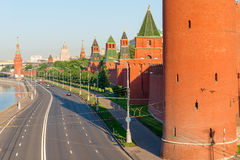 Road along the walls of Kremlin Stock Images