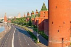 Road along the walls of Kremlin Stock Images