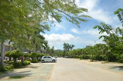 The road along the Yalong Bay, China Sanya Stock Images