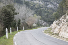 Road in Alpes Haute, Luberon Park outside Lourmarin Village, Pro Royalty Free Stock Images