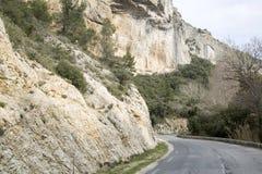 Road in Alpes Haute, Luberon Park outside Lourmarin Village, Pro Royalty Free Stock Photo