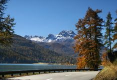 Road in Alps Stock Image