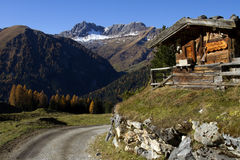 Road in the Alps Royalty Free Stock Photos
