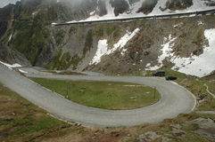 Road in Alps Royalty Free Stock Photos