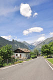 Road in Alps Stock Photo