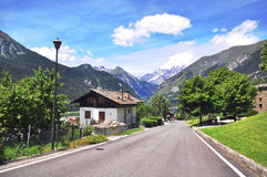 Road in Alps. Road in italian Alps photo Stock Images
