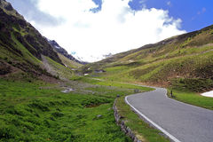 The road in the alps Stock Images