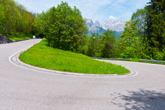 Road in the Alps Royalty Free Stock Image