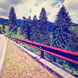 Road in the Alps Royalty Free Stock Photo