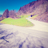 Road in Alps Royalty Free Stock Images