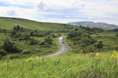 Road in Altai Mountains. Stock Photos