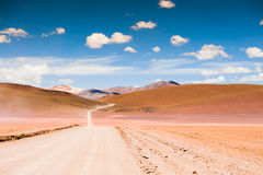 Road in the Altiplano, Bolivia Royalty Free Stock Image