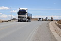 The road in the Altiplano Stock Photo