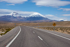 Road on the Altiplano Royalty Free Stock Photography