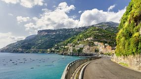Road on Amalfi Coast Stock Photography