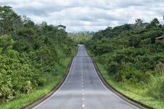 Road through the Amazon area of Ecuador. In the Lago Agrio area Stock Image