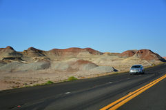 Road in American southwest. The highway in the barren American Southwest Royalty Free Stock Images