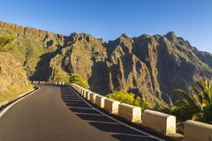 Road in Anaga Mountains Taganana stock photography