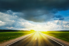 Free Road And Stormy Sky Stock Photography - 30726522