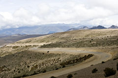 On the road through the Andes. Stock Image