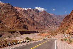 Road through Andes Stock Images