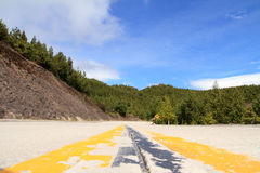 Road through the Andes, of Ecuador Stock Image