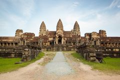 Road in Angkor temple Royalty Free Stock Image