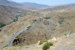 Road in the Anti-Atlas Mountains Stock Images