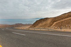 Road in the Arava desert Royalty Free Stock Photos
