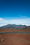 Road arches at Haleakala crater Stock Images