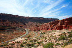 Road through Arches National Park Royalty Free Stock Photos