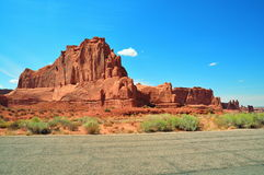 Road in Arches National Park, Utah Royalty Free Stock Image
