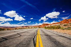 Road through Arches National Park, Utah, USA Stock Images