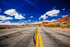 Road through Arches National Park, Utah, USA Stock Photography