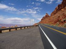 On the road in Arizona Stock Photography