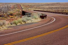 Road in Arizona. 's Petrified Forest Stock Photography