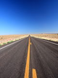 Road in Arizona vertical view Royalty Free Stock Photos