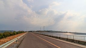 Road Around the Dam in Thailand royalty free stock images