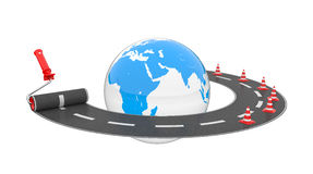 Road around globe Royalty Free Stock Images