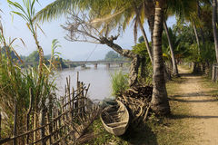 The road around the island of Don Det in Laos Stock Photos