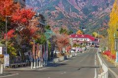 The road around Lake Kawaguchiko Royalty Free Stock Image