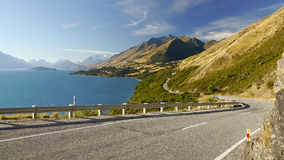 Road around the lake Royalty Free Stock Photography