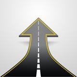 Road arrow Stock Image