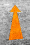 Road arrow direction Stock Photo