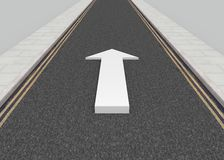 Road Arrow Royalty Free Stock Photos
