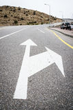 Road arrow Jebel Akhdar Royalty Free Stock Images