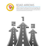 Road with an arrow up. Vector illustration Stock Images