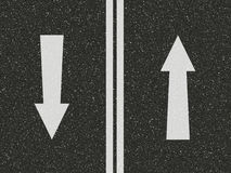 Road with arrows Stock Images